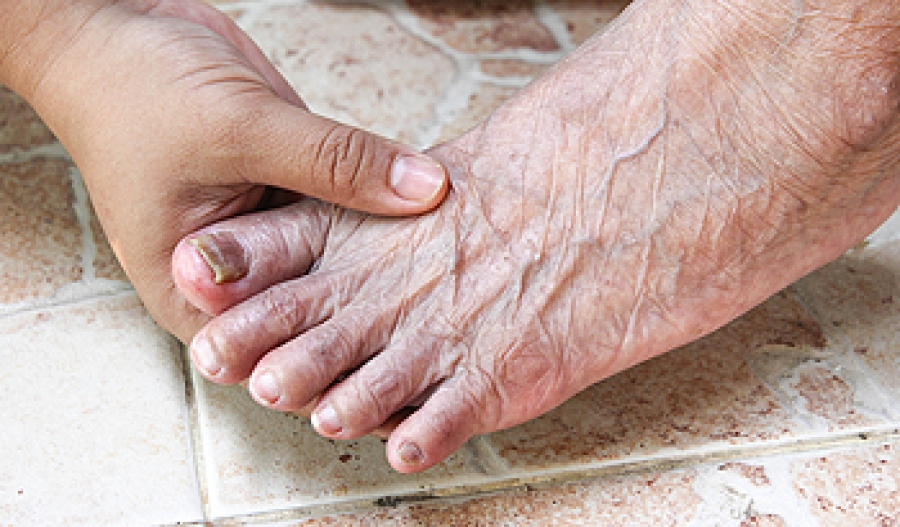 Taking care of your elderly loved one's feet can avoid serious issues.